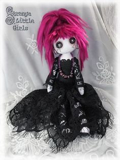 Art 'Cherry Black' - by Jo Hards from Gothic art dolls