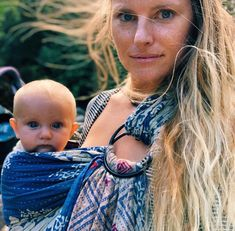 Baby Wearing Newborn - Baby Wearing mama and Newborn in a one-of-a-kind Kantha Bae baby Carrier. Baby Wearing Wrap, Ring Sling, Handmade Baby, Beautiful Babies, New Moms, Bae, Baby Carriers, Giveaway, How To Wear