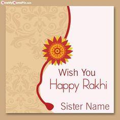 Sister Wishes Raksha Bandhan Images With Your Name Image
