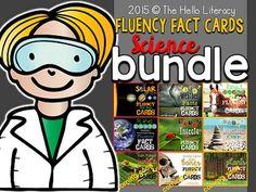 Fluency Facts {Big Science Bundle} 9 sets total for 324 task cards and 18 comprehension checks.