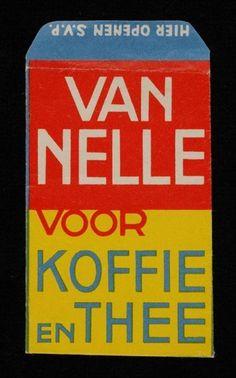Papieren suikerzakje, Van Nelle voor koffie en thee