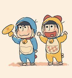 Osomatsu-san x Doraemon (karamatsu and jyushimatsu)