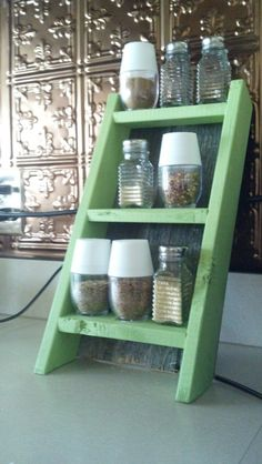 Rustic Wooden Spice Rack by 116Creations on Etsy, $25.00