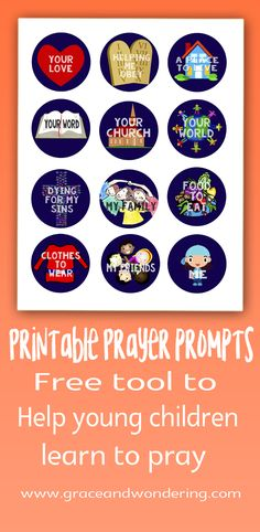 How to Make Prayer Prompts That Motivate and Focus Children's Prayers - Grace and Wondering | Family Ministry and Home Education