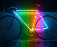 Imagine your bicycle as a vivid, neon-silhouette, contrasted from the crowd and clutter of the night (much like the image/video above). It's what we're going to do to your bicycle. We're going to make it into a glow bike - and we're going to use EL (electroluminescent) wire to do.What is EL wire?Essentially, EL wire is a flexible string/tube/rope of light, ranging from 2-5mm in diameter, that emits a uniform glow when a current is passed through it. Because of it's flexibility, it's perfect…