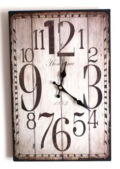Shabby Chic Office | Shabby Chic Distressed Antique Rustic Style Clock for Kitchen Office ...