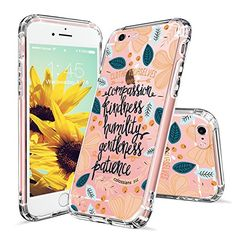 Amazon.com: iPhone 6s Case, iPhone 6 Case Clear, MOSNOVO White Floral Flower Clear Design Pattern Printing Transparent Back with TPU Bumper Protective Cover for Apple iPhone 6/6s (4.7 Inch) - Always Be Joyful: Cell Phones & Accessories