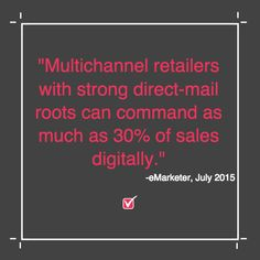 Apparel retailers, this is for you.  Retailers with strong direct sales history lead for e-commerce and digital sales.