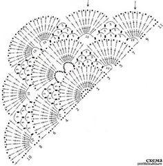 'Tita Carre' Tita Carré - Agulha e Tricot : Xale em crochet com gráfico
