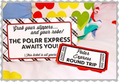 Polar Express Movie night  with hot chocolate bar, tickets, (free printable)  Making Life Whimsical: Believe.
