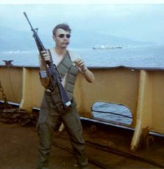 On a Ammo Ship looking for zappers  Unit Name: D Co 87th Inf   Base Name: Camp Bakter ,Marble Mountin