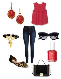 """""""Untitled #200"""" by kmysoccer on Polyvore featuring MANGO, Liz Palacios, Steve Madden, Henri Bendel, Betsey Johnson and Essie"""