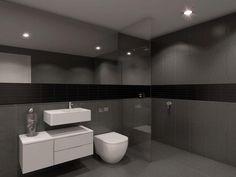 Modern bathroom ideas with tiles in grey