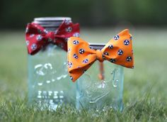 Bowties on Mason Jars