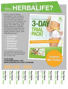 Printable Herbalife Flyer by KellyLynnetteDesigns on Etsy