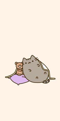 pusheen Wallpaper gato messenger - stuff - Using a private tutor Cute Cat Wallpaper, Kawaii Wallpaper, Cute Wallpaper Backgrounds, Cartoon Wallpaper, Wallpapers Kawaii, Pusheen Stormy, Pusheen Love, Kawaii Doodles, Kawaii Drawings