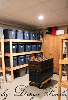 easy storage idea, shelving ideas, storage ideas, woodworking projects, This is what your storage room could look like with easy to make and inexpensive shelves