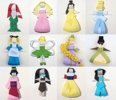 These are so stinking clever! Disney princesses made of ribbons