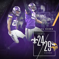 Minnesota Miracle! Vikings scored a touchdown with 5 seconds left to the end of the 4th quarter