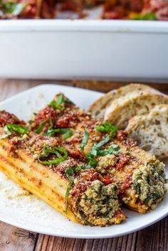 Vegan Cannelloni: Cannelloni pasta is stuffed with cheesy and savory dairy-free ricotta, covered in homemade marinara sauce and baked with parmesan.