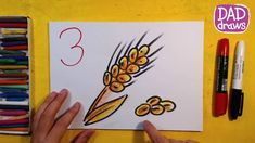 How to draw the ears of wheat / Art for Kids