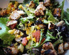 Honey Lime Cilantro Grilled Chicken Salad