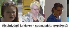 Ristiinlyönti ja kierre - suomalaista nypläystä  Finland, Facebook page.