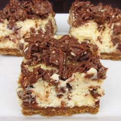 Toblerone Cheesecake Bars Recipe   by Once Upon A Cutting Board   on GrandMothersKitchen.com