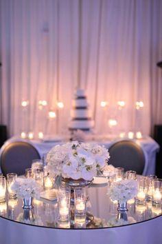 mirror top sweetheart table