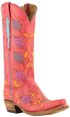 Lucchese Classics - the color, the roses, the details. <3