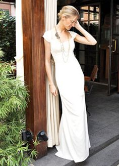 Nicole Miller HG0016 Grace shirred reverse charmeuse gown