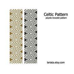 Celtic Pattern Peyote Bracelet Pattern INSTANT von lariata, $5.99