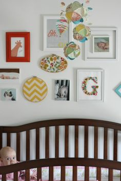 baby room gallery wall