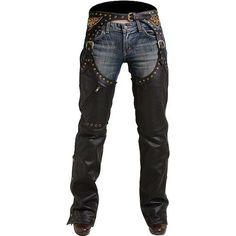 Pokerun Marilyn 2.0 Chaps Women's Leather Harley Cruiser Motorcycle Pants - Black / Small : Amazon.com : Automotive