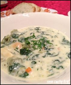 Tortellini Spinach Soup