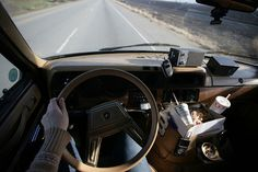 Got music, got fast food, got a road ahead of us. Lets go.