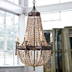 Regina Andrew Lighting Wood Bead Chandelier