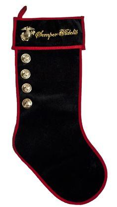 Marine Semper Fidelis Red/Black Christmas Stocking