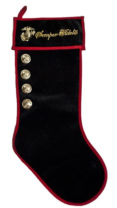 Marine Semper Fidelis Red/Black Christmas Stocking