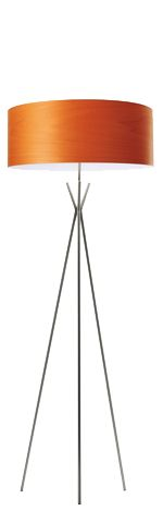 very neat Cosmos floor lamp by lzf lamps (Luzifer). The shade is made of a wood veneer. You can see this in our showroom.