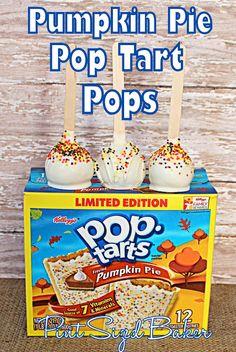 """Pumpkin Pie Pop Tarts """"Popped"""" by Pint Sized Baker #PopTart #Pumpkin #CakePop"""