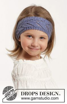 Baby Knitting Patterns Ravelry Wendy Darling Hair Band By DROPS Design – Free Knitted Pattern – (ravelry) Baby Knitting Patterns, Baby Girl Patterns, Lace Knitting, Knit Crochet, Crochet Hats, Knitted Hats Kids, Knitting For Kids, Drops Design, How To Purl Knit