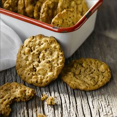 All-Bran™ Peanut Butter Crunch Cookies -- I wonder if these would work with Raisin Bran.