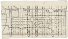 Traffic Study, project, Philadelphia, Pennsylvania. Plan of proposed traffic-movement pattern, Louis I. Kahn