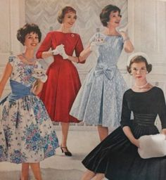 Late 1950s party dresses, 1959