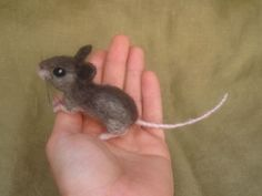 Needle felted mouse, this looks so real, wow!