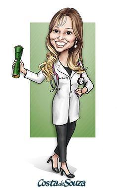 Caricatura para formatura de Medicina. #caricature #graduation