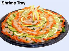 Served Shrimp Tray