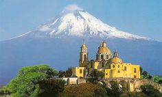 Popocatepetl from Cholula - my view everyday while going to school in Puebla, Mexico.