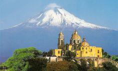 Popocatepetl from Cholula, Puebla, Mexico.